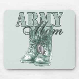 Army Mom Combat Boots N Dog Tags 2 Mouse Pad