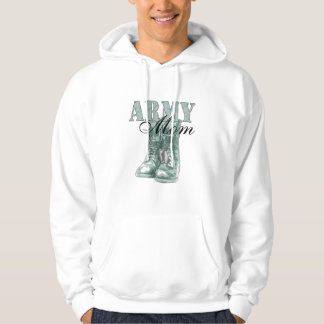 Army Mom Combat Boots N Dog Tags (Digital Camo) Hoodie
