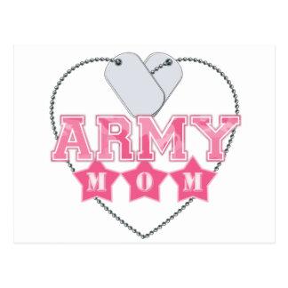 Army Mom Dog Tags Heart Postcards