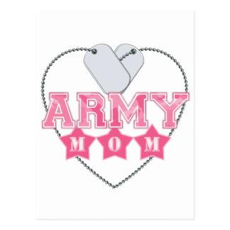 Army Mom Dog Tags Heart Postcard