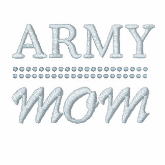 Army Mom Military Pride Embroidered Ladies Zipped Hoodie