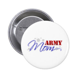 Army Mom Patriotic Pinback Buttons