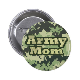 Army Mom Pinback Button