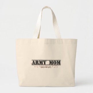 Army Mom Pinkish Style Large Tote Bag