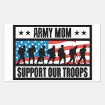 ARMY MOM RECTANGULAR STICKER