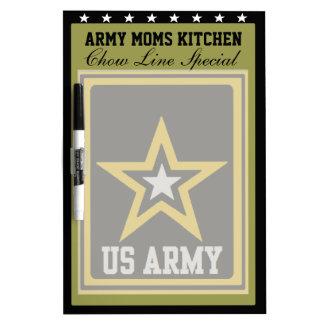 ARMY MOMS KITCHEN DRY ERASE BOARD