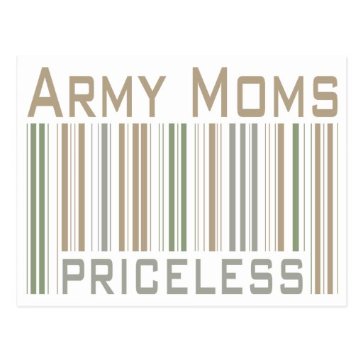Army Moms Post Card