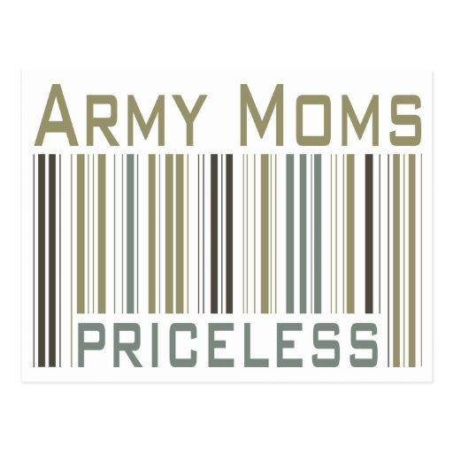 Army Moms Priceless Bar Code Postcards