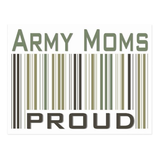 Army Moms Proud Postcards
