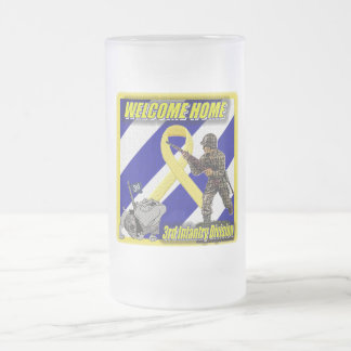army 16 oz frosted glass beer mug