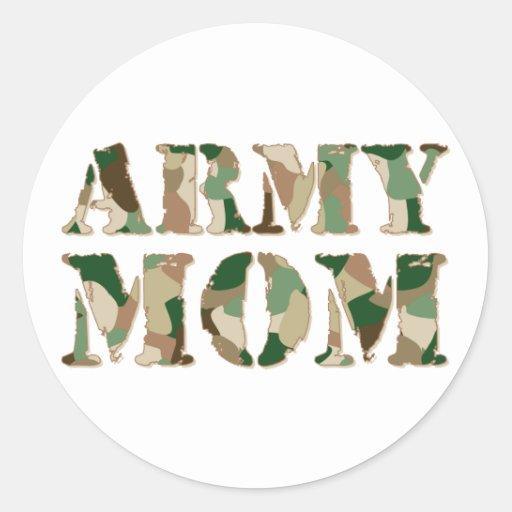 Army Mum camo Round Sticker
