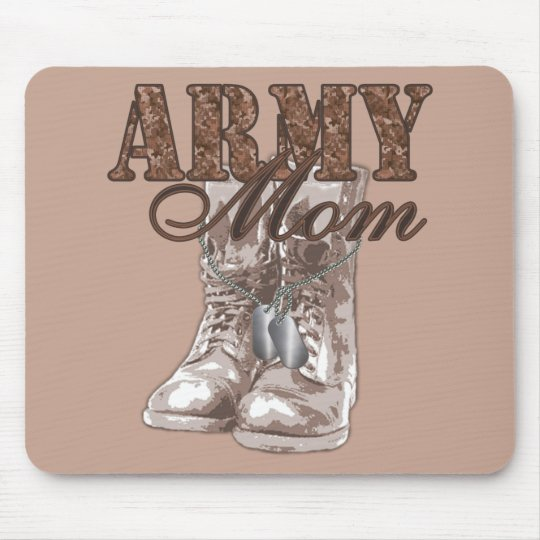 Army Mum Combat Boots N Dog Tags 1 Mouse Mat