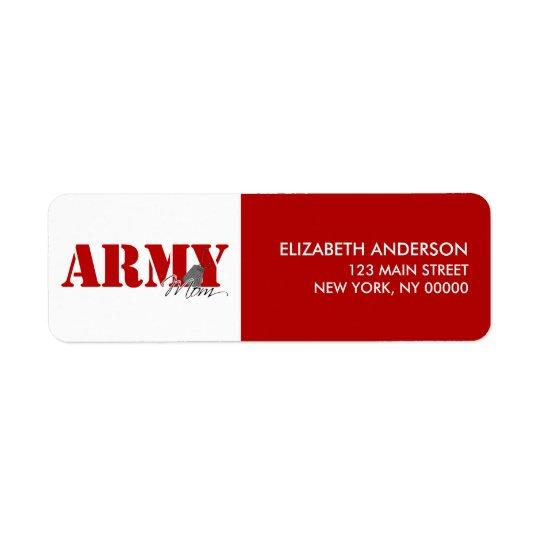 Army Mum Return Address Labels