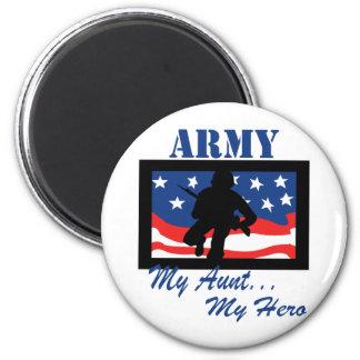 Army My Aunt My Hero 6 Cm Round Magnet