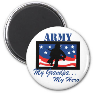 Army My Grandpa My Hero 6 Cm Round Magnet