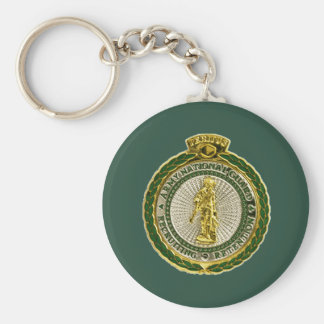 Army National Guard Master Recruiter Basic Round Button Key Ring