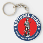 Army National Guard Military Logo Basic Round Button Key Ring