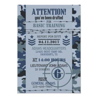 Army Navy Camouflage Military Birthday Card