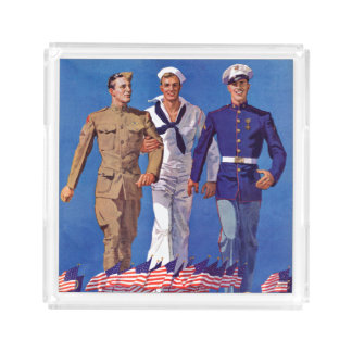 Army, Navy & Marines Acrylic Tray