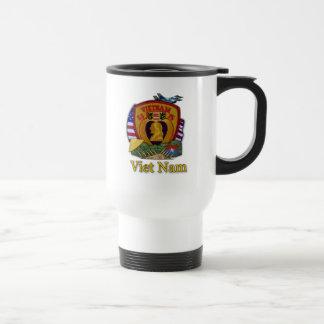 army navy marines air force vietnam war veterans stainless steel travel mug
