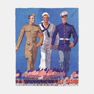Army, Navy & Marines Fleece Blanket