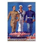 Army, Navy & Marines Greeting Card