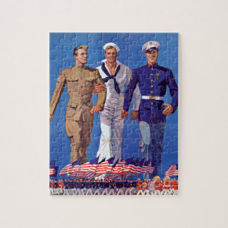 Army, Navy & Marines Jigsaw Puzzle
