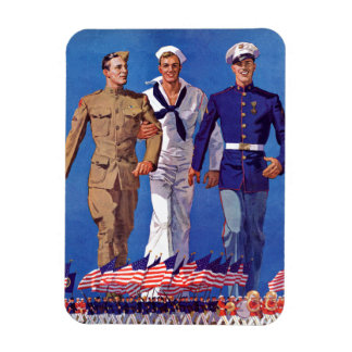 Army, Navy & Marines Magnet