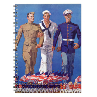 Army, Navy & Marines Spiral Note Books