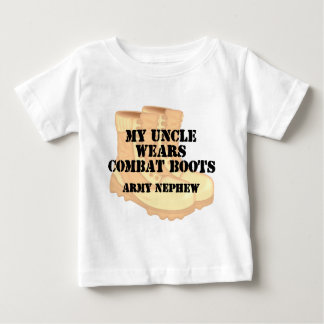 Army Nephew Uncle Desert Combat Boots Baby T-Shirt