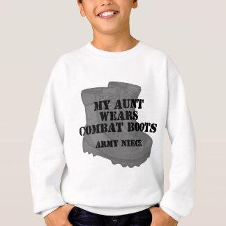 Army Niece Aunt Combat Boots Sweatshirt