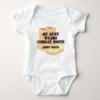 Army Niece Aunt Desert Combat Boots T-shirt