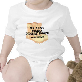 Army Niece Aunt Desert Combat Boots Rompers