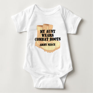 Army Niece Aunt Desert Combat Boots Tshirts