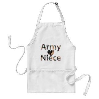 Army Niece Heart Camo Aprons