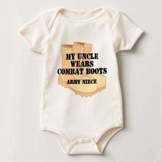 Army Niece Uncle Desert Combat Boots Bodysuits