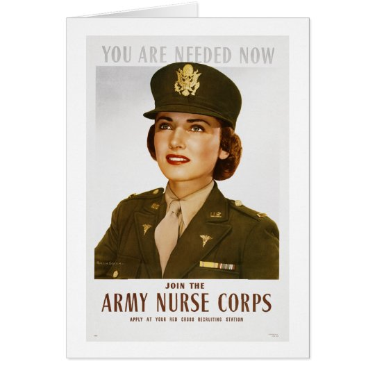 Army Nurse Card