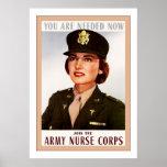 Army Nurse Corps ~ Vintage WW2 Poster