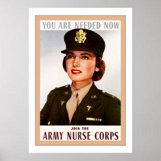 Army Nurse Corps ~ Vintage WW2 Print