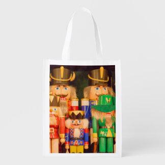 Army of Christmas Nutcrackers Reusable Grocery Bag