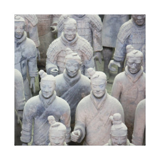 Army of Terracotta Warriors Stretched Canvas Print