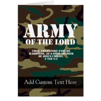 Army of the Lord, Bible Scripture Camo Greeting Card