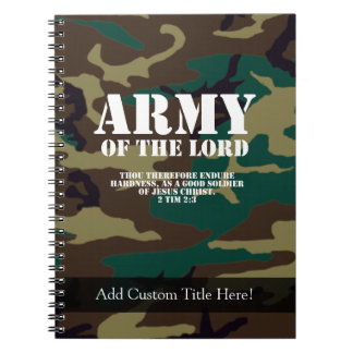 Army of the Lord, Bible Scripture Camo Notebook