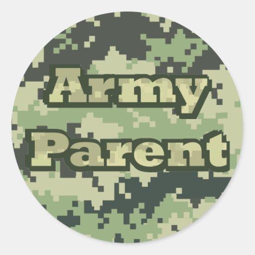 Army Parent Round Stickers