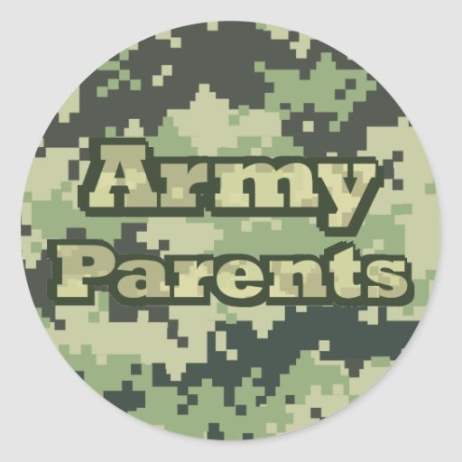 Army Parents Stickers