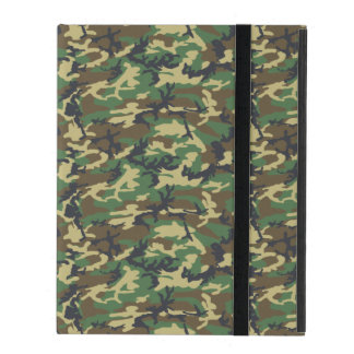 Army Pattern, Camo Background - Brown Yellow Green iPad Case