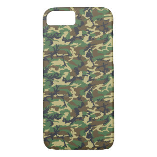 Army Pattern, Camo Background - Brown Yellow Green iPhone 8/7 Case