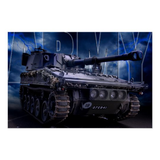 Army Poster featuring a Howitzer Tank