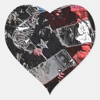 army Proud Heart Sticker