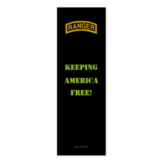 Army rangers 75th flash veteran patch bookmarker business cards